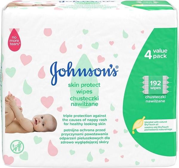 JOHNSON'S BABY Skin Protect 192 ks - Dětské vlhčené ubrousky