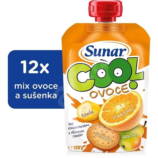 Sunárek Cool ovoce Pomeranč, banán, sušenka 12× 120 g - Dětský příkrm