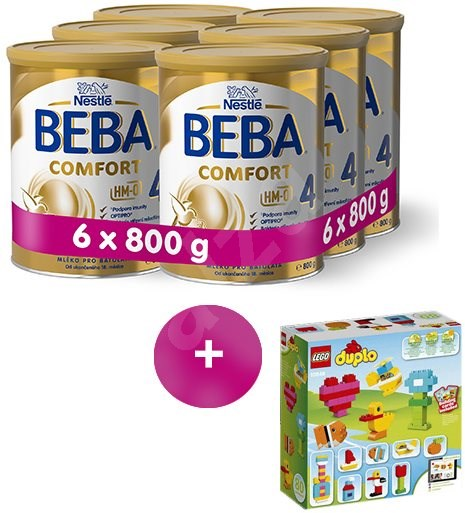 BEBA COMFORT 4 (6× 800 g) + dárek - Kojenecké mléko
