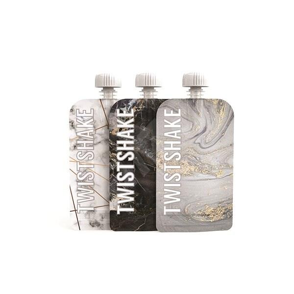 TWISTSHAKE Plnitelná kapsička 3× 100 ml - mramorově šedá - Plnitelná kapsička