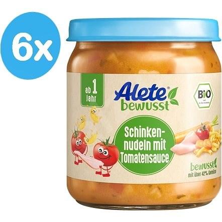 ALETE BIO Těstoviny se šunkou v zeleninové omáčce 6× 250 g - Dětský příkrm
