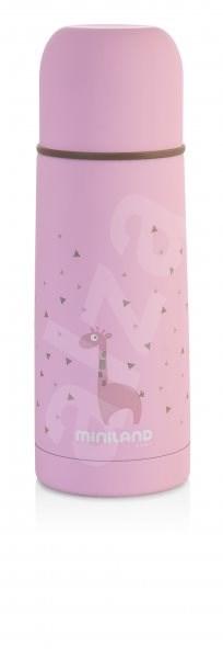 MINILAND Termoska Silky 350 ml - pink - Dětská termoska
