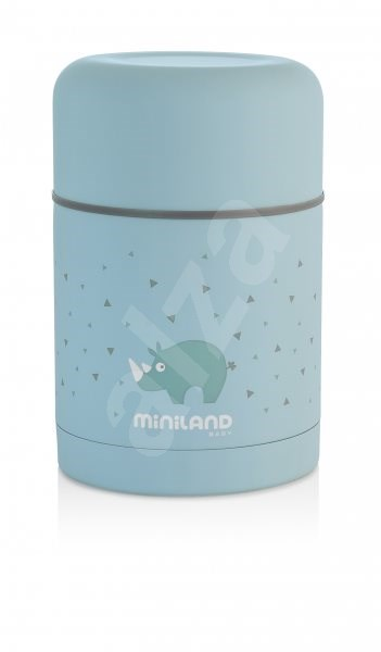 MINILAND Termoska Silky na jídlo 600 ml - blue - Dětská termoska