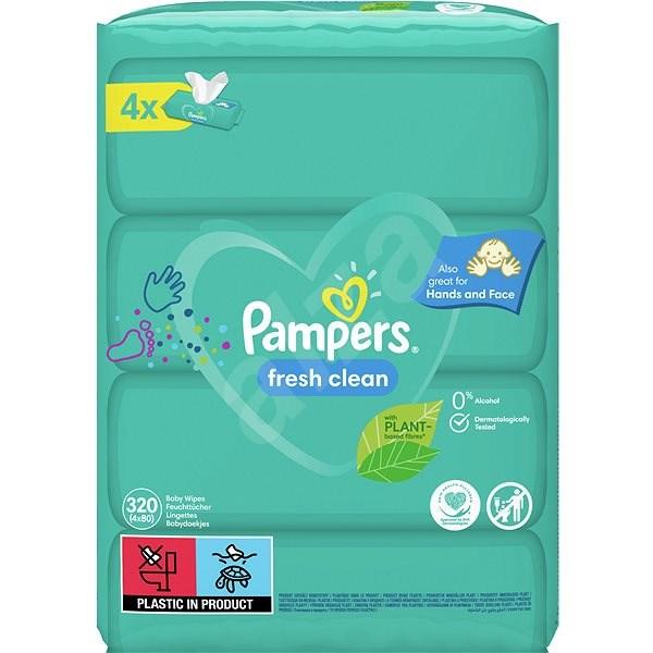 PAMPERS Fresh Clean XXL 4× 80 ks - Dětské vlhčené ubrousky