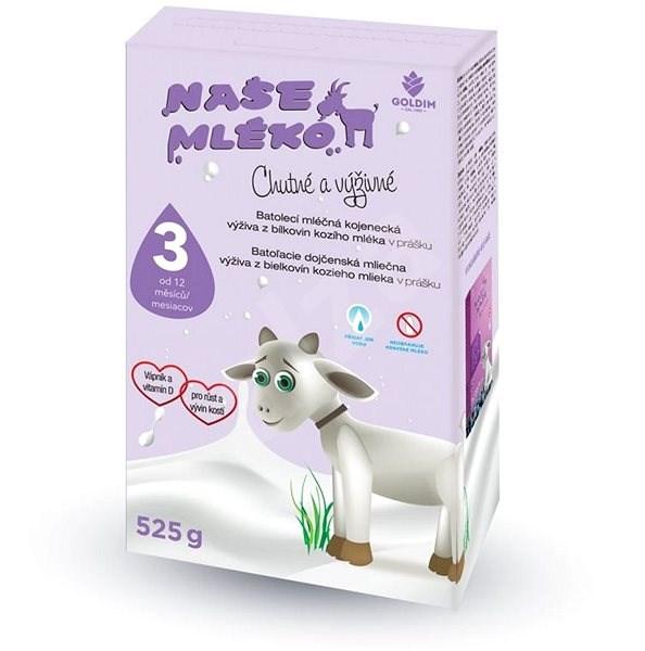 NAŠE MLÉKO 3,  525 g - Kojenecké mléko