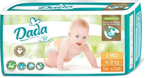DADA Extra Soft MIDI 3, 54 ks - Dětské pleny