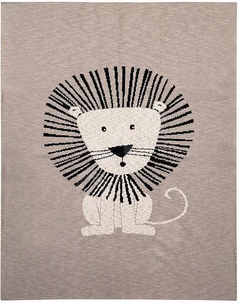 Petite&Mars Harmony Brave Lion 80×100 cm - Deka do kočárku