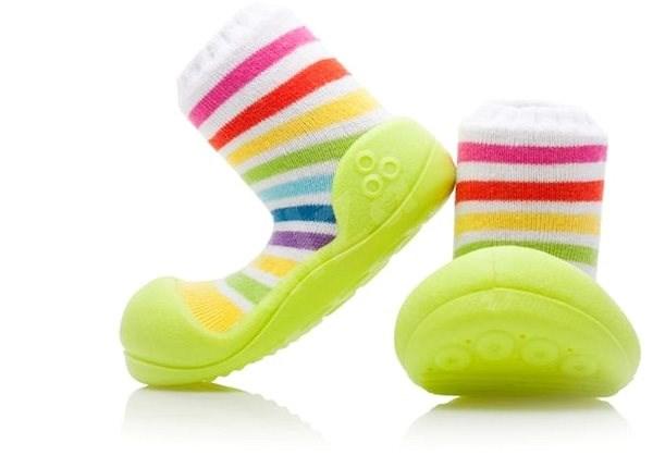 ATTIPAS RainBow Green vel. XL - Dětské boty