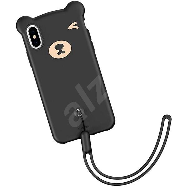 "Baseus Bear Silicone Case pro iPhone XS / X 5.8"" Black - Kryt na mobil"