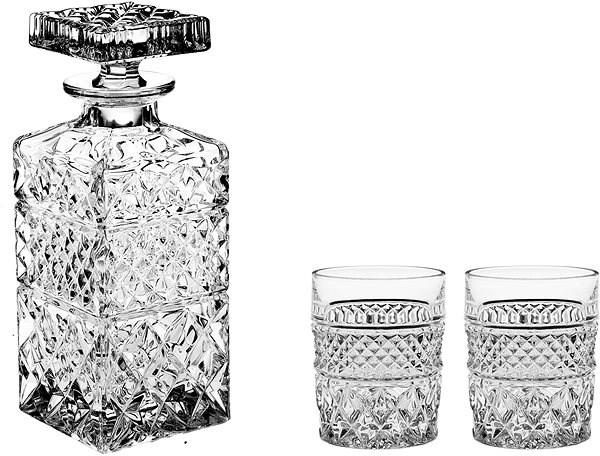 BOHEMIA CRYSTAL Whisky set 3ks MADISON - Whisky set