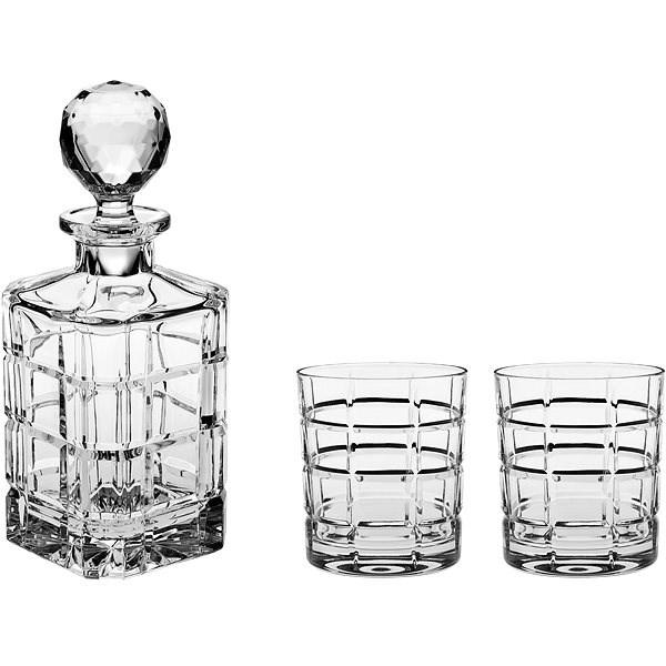BOHEMIA CRYSTAL Whisky set 3ks TIMESQUARE - Whisky set
