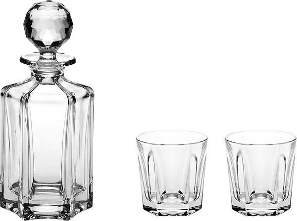 BOHEMIA CRYSTAL Whisky set 3ks VICTORIA - Whisky set