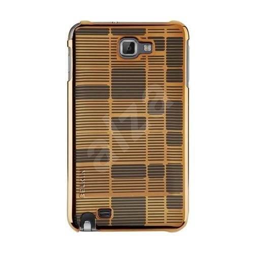 Belkin Bricks hnědé/chromové - Pouzdro na mobilní telefon