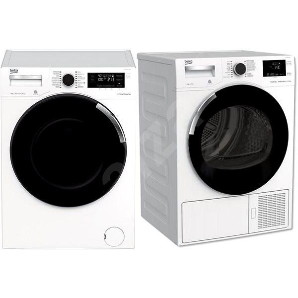BEKO WTV 8744 CSXW0 + BEKO DH 8544 CSFRX - Set pračka a sušička