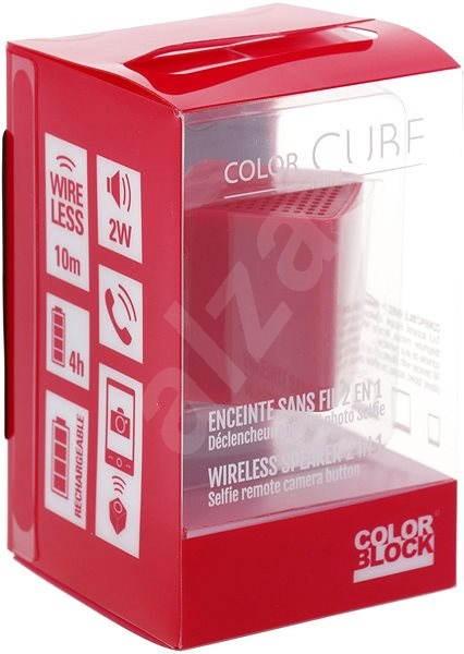 Colorblock CBCUBEMINIR červený - Bluetooth reproduktor