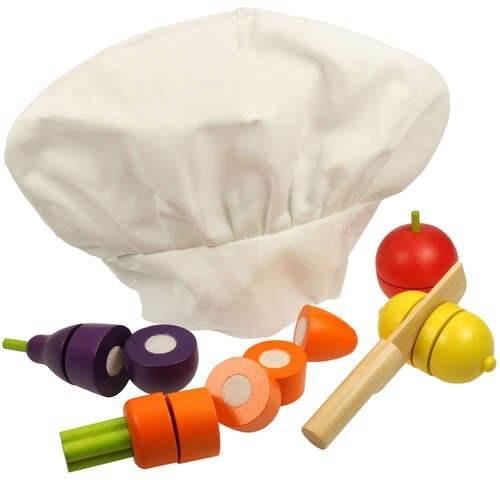beaafaeb5c0 Kuchařská čepice a krájení zeleniny - Herní set