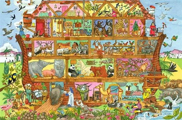 Dřevěné puzzle - Noemova archa - Puzzle