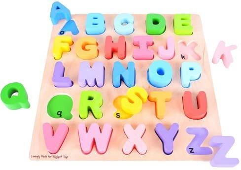 Dřevěná motorická vzdělávací hračka - Abeceda - Didaktická hračka