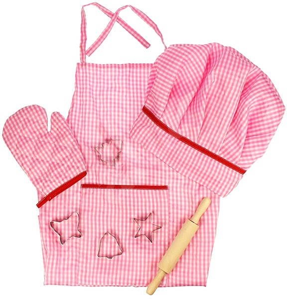 Růžový set šéfkuchařky - Herní set
