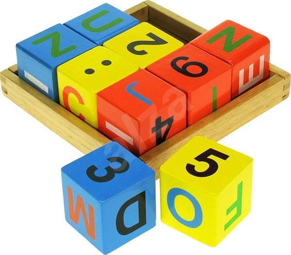Dřevěné kostky s počítáním - Herní set