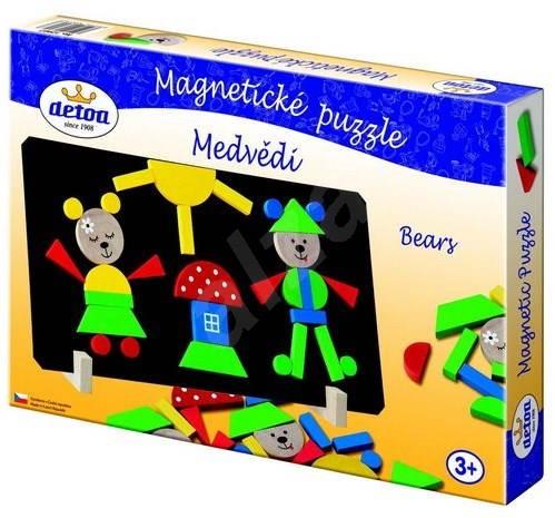 Detoa Magnetické puzzle Medvědi - Puzzle