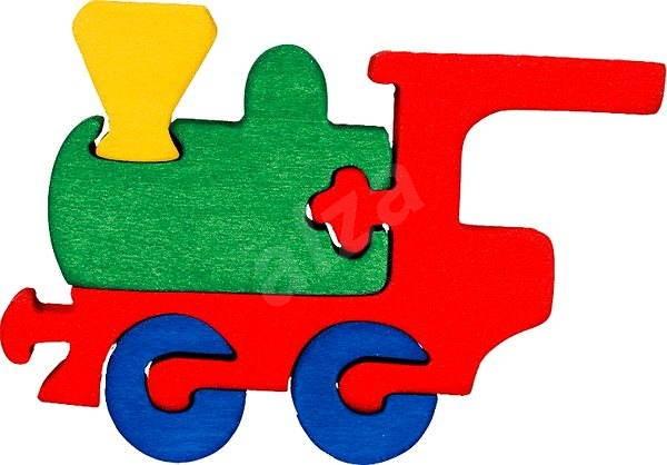 Dřevěné vkládací puzzle - Malá mašinka - Puzzle