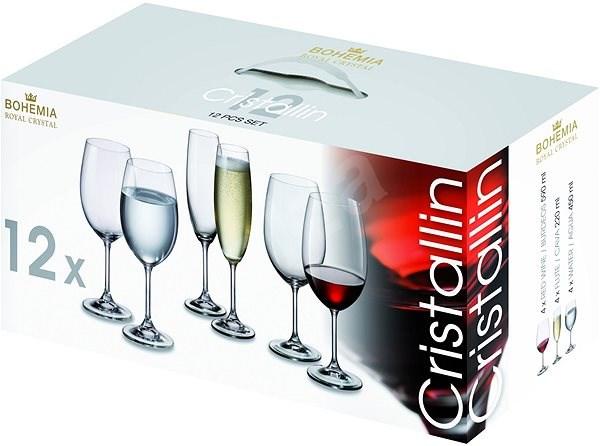Bohemia Royal Crystal Sada sklenic 12ks CRISTALLIN - Sklenice na studené nápoje