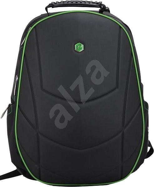 """BESTLIFE Assailant 17"""" černo/zelený - Batoh na notebook"""