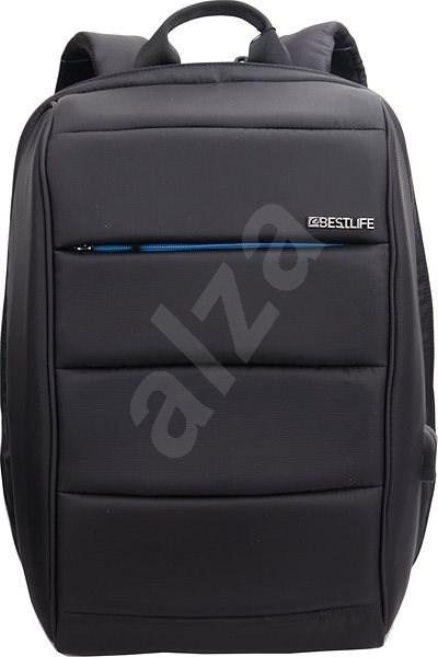 "BESTLIFE Travel Safe 15.6"" černo/modrý - Batoh na notebook"