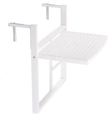 LODGE Balkónový skládací stůl bílý - Zahradní stůl