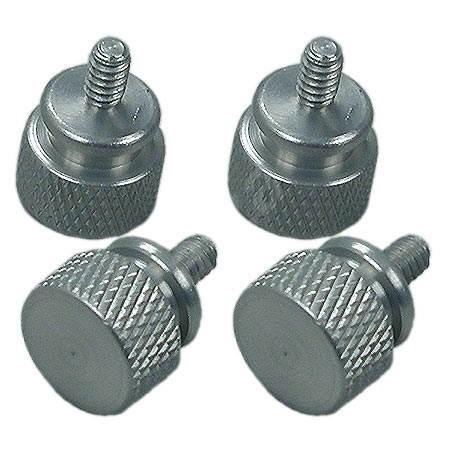 REVOLTEC ThumbsSkrew, hliníkové šrouby, rýhovaná hlava, 4 ks, stříbrné - šroubky
