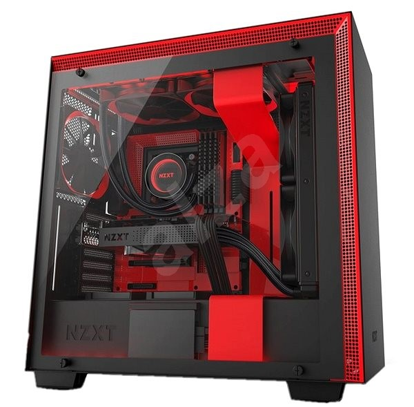 NZXT H700i černo-červená - Počítačová skříň