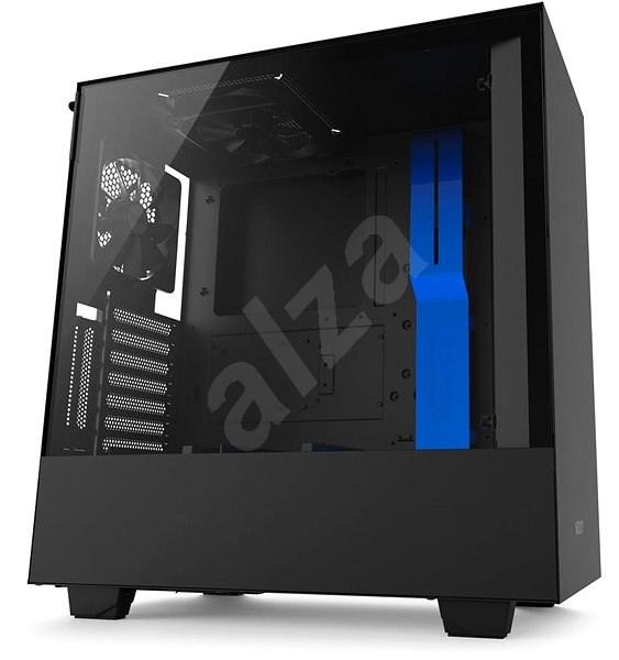 NZXT H500i černo-modrá - Počítačová skříň