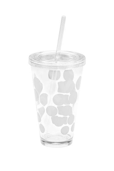ZAK DOT DOT Ice plastová sklenice 480ml bílá - Sklenička