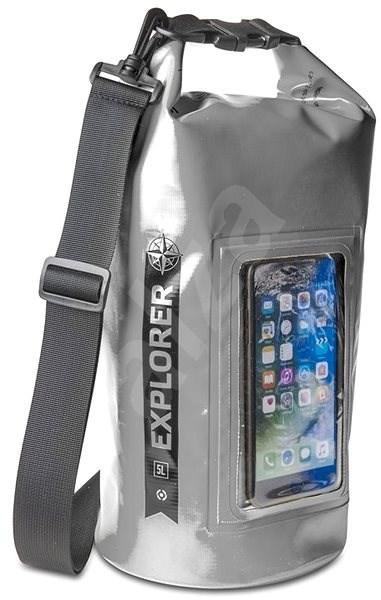 """CELLY Explorer 5L s kapsou na telefon do 6.2"""" šedé - Vak"""