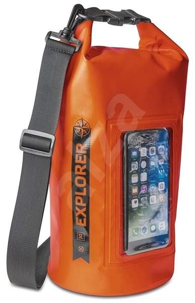 """CELLY Explorer 5L s kapsou na telefon do 6.2"""" oranžové - Vak"""
