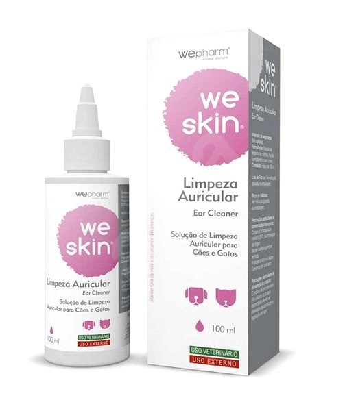 WePharm WeSkin Ear Cleaner 100ml - Ear Drops for Cats and Dogs