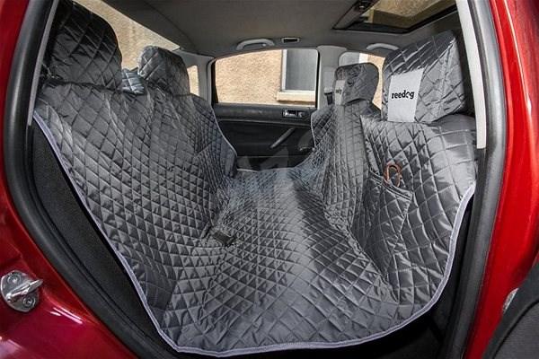 Reedog ochranný potah do auta pro psy - šedý (L) - Deka pro psa do auta