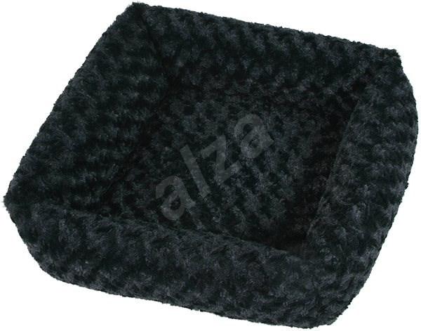 Olala Pets Cube Fuzzy, 53 × 53 cm, černá - Pelíšek pro psy