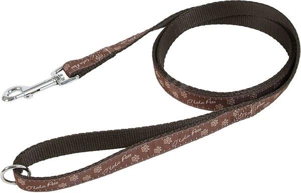 Olala Pets Dog Leash, Paws, 25mm × 150cm, Brown - Dog Leash