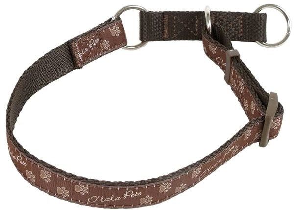 Olala Pets collar half paws 15 mm x 23-35 cm, brown - Dog Collar