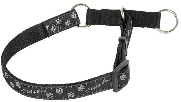 Olala Pets obojek polostahovací  tlapky 25 mm x 38-62 cm, šedá - Obojek pro psy