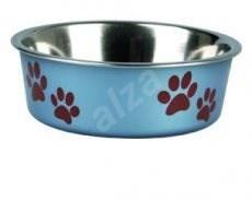 Karlie-Flamingo Stainless-steel Bowl with Plastic Sheathing, Metallic Blue 21,5cm, 1500ml - Dog Bowl