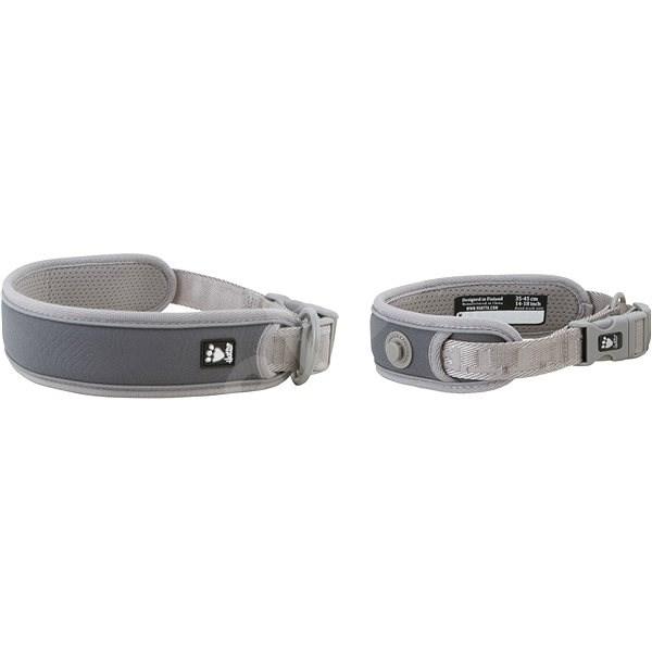 Obojek Hurtta Adventure šedý 55-65cm - Obojek pro psy