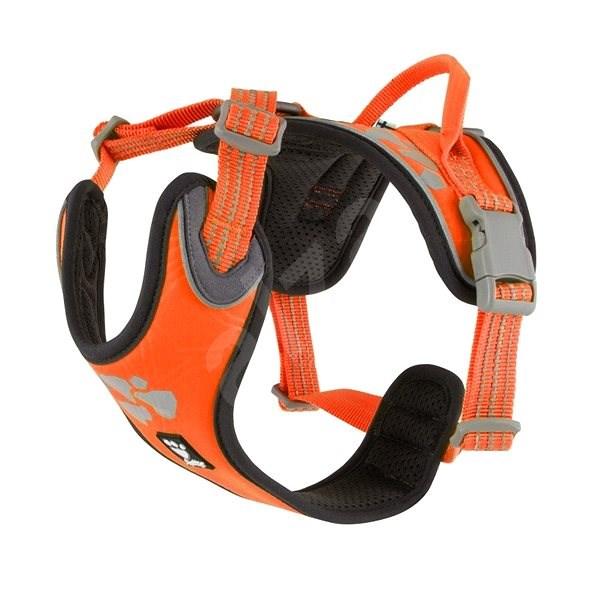 Postroj Hurtta Weekend Warrior neon oranžový 60-80cm - Postroj pro psa