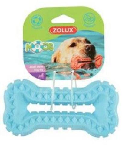 BONE MOOS TPR POP 16 cm modrá Zolux - Hračka pro psy