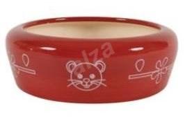 Miska keramická kočka 350ml červená Zolux - Miska pro kočky