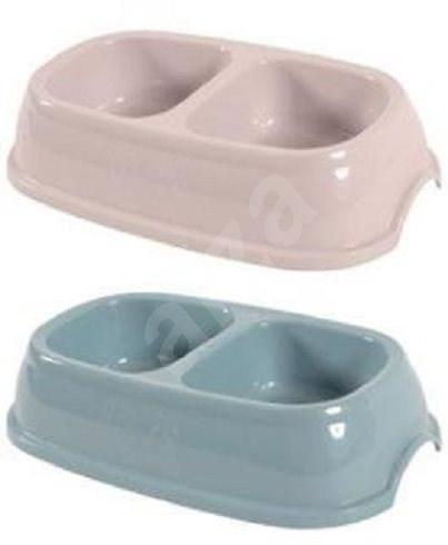 Zolux Plastic Double Bowl for Cats 2x0,2l Mixed Colour - Cat Bowl
