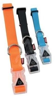Obojek pes SILICONE svítící modrá 20mm/38-50cm Zolux - Obojek pro psy