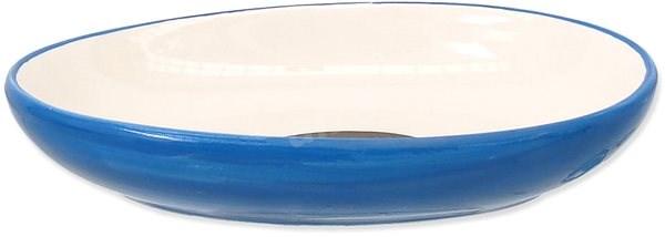 MAGIC CAT Miska keramická ovál potisk ryba modrá 13 × 9 × 2,5 cm 0,19 l - Miska pro kočky